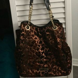 Betray Johnson sequined animal print bag